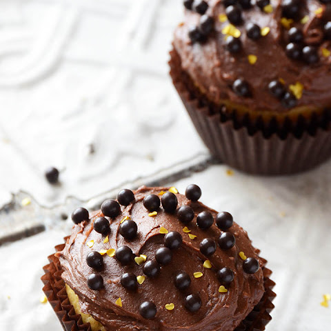 Yellow Cake Cupcakes with Chocolate Buttercream for Two