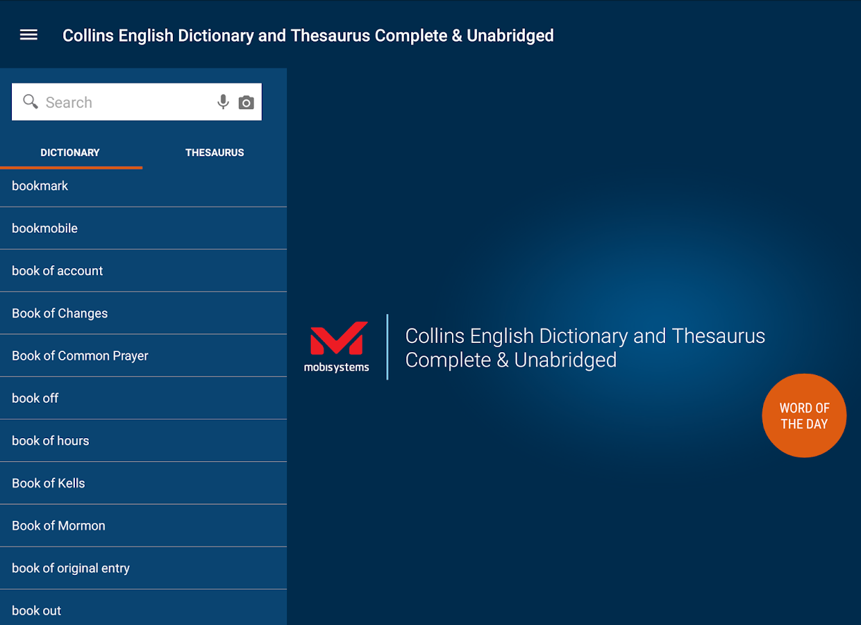 Collins English and Thesaurus Screenshot 14