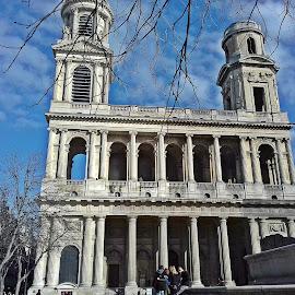 Saint Sulpice church in Paris by Ciprian Apetrei - Instagram & Mobile Android ( paris, building, church, mobile photos, architecture )