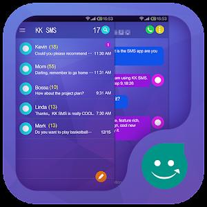 KK SMS Purple Theme  1.0