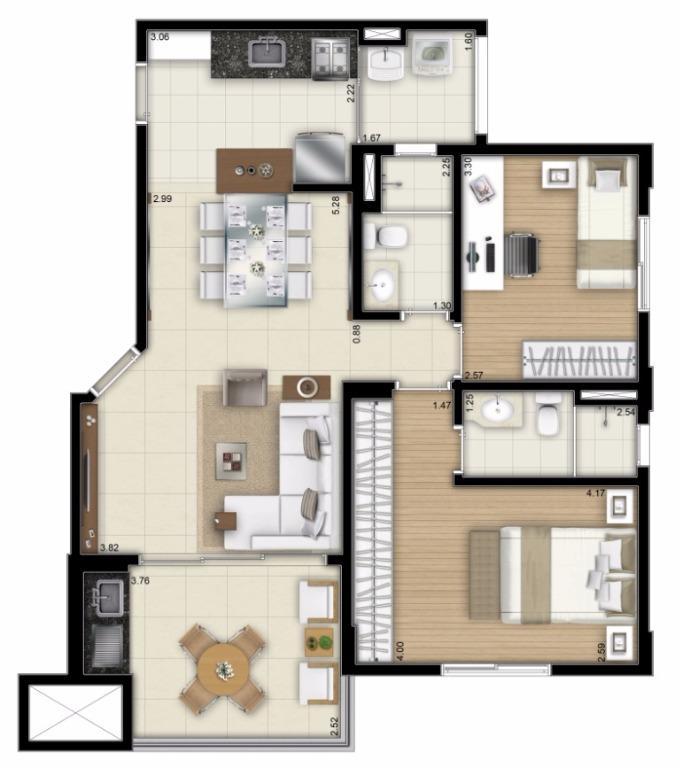 Planta Final 4 - 72 m²