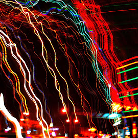 Meni Pajuraweut by Dedi Sukardi - Abstract Patterns ( low key, night shot )