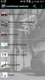 crossfitness workouts Fitness app screenshot for Android