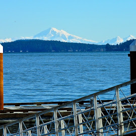 Mt. Baker, WA.   by Campbell McCubbin - Buildings & Architecture Other Exteriors ( mountain, mt. baker, ocean, kulshan, marina, salish sea )
