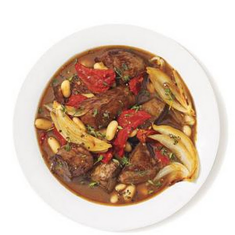 Braised Beef With Sun-Dried Tomatoes and White Beans