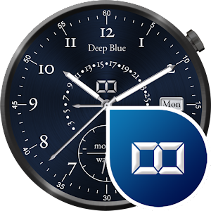 Deep Blue Watch Face