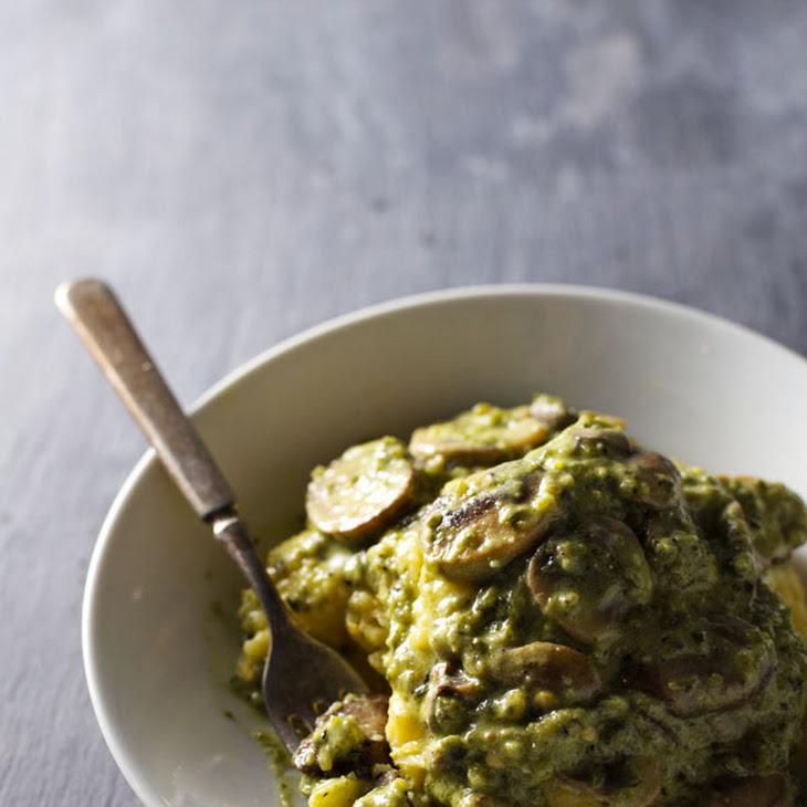 Mushroom + Poblano Tart In Cornmeal Crust Recipes — Dishmaps