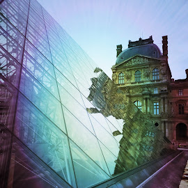 Louvre reflections by Antonello Madau - Instagram & Mobile iPhone