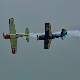 Fly Over by John Kehoe - Transportation Airplanes ( car, america, plane, fly, marines, road, navy, stunt, race, indycar, historic )