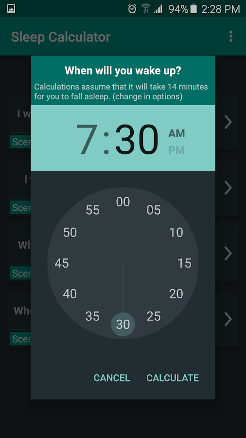 Sleep Calculator Screenshot 1