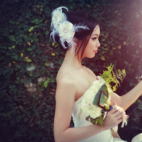 Bridal by Danny Tan - People Portraits of Women ( fantasy, butterfly, fashion, bridal, danny, green, wedding, collection, bliss, garden, photography, design )