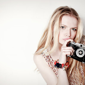Click. by Rob Jarvis - People Portraits of Women ( film, model, girl, camera, photographer, blond, photo, portrait )