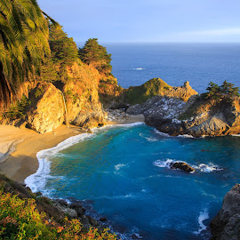 McWay Falls by Gannon McGhee - Landscapes Beaches ( sur, california, falls, mcway, big )
