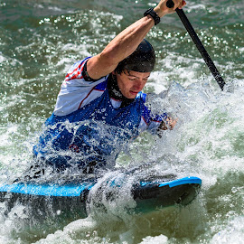 White Water by Mike Watts - Sports & Fitness Watersports ( olympic, rio, slalom, 2016, whitewater center, canoe, kayak )