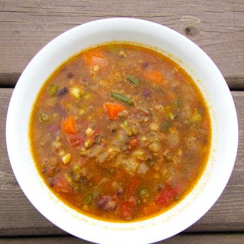 Healthy Veggie Bean Soup with Organic Tru Roots Sprouted Bean Trio
