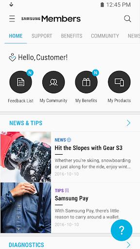 Samsung Members screenshot 1