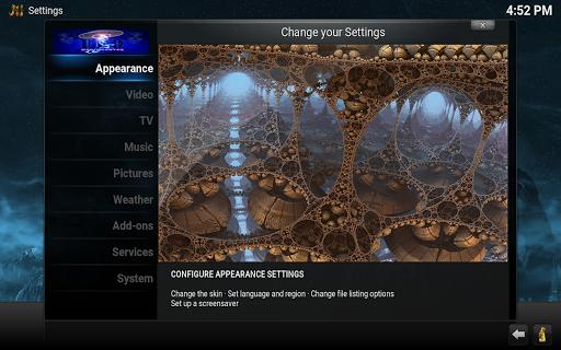 UFO Kodi Clone - screenshot