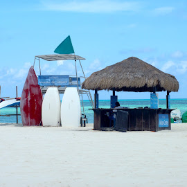 Cozumel destination by Amber O'Hara - Landscapes Beaches ( sand, surf board, outdoor gear, beach shack, ocean view )