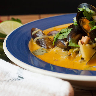 Thai Coconut Broth with Mussels