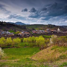 Barsanesti by Eduard Moise - Landscapes Travel ( village, twilight, summer, cloudy, trees )