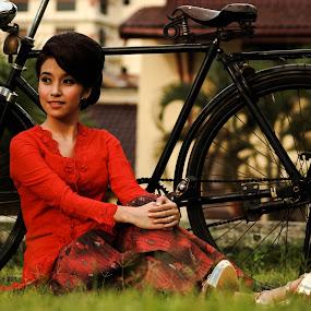 Indonesian Batik by Adi Mumun'k - People Fashion ( fashion, model, batik, indonesia, beauty, culture )