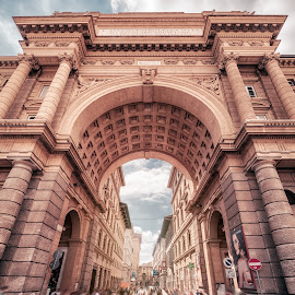Florence Gate by Goran Dzh - Buildings & Architecture Public & Historical ( nikon, italia, crowd, crowded, epic, gate, florence, firenze, tamron, italy,  )