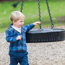 Tyre swing by Loh Jiann - Babies & Children Children Candids ( playground, park, children, crying, tyre, candid, swing )