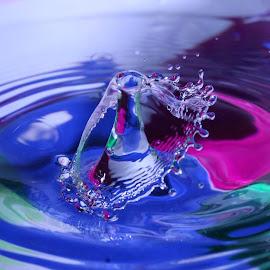 Water Drop  by Liana Lputyan - Abstract Water Drops & Splashes ( water drop art )
