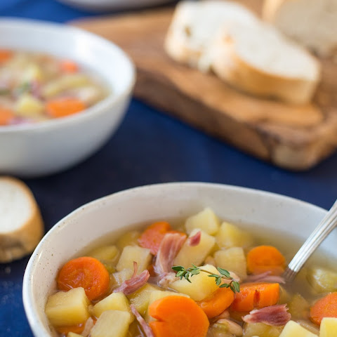 Slow Cooker Ham Bone Soup