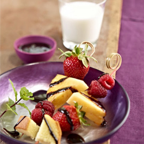 Chocolatey Fruit Skewer