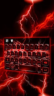Red Lightning Keyboard Theme for pc