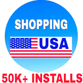 USA shopping : All in one shopping app icon