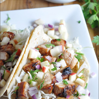 Grilled Mesquite Pork Tacos with Apple Glaze