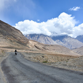 freedom by Prabhat Kumar - Transportation Roads ( bike, freedom, lone, ladakh, roads )