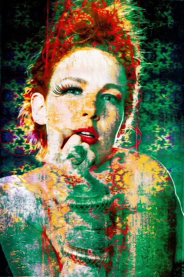 retro by Kathleen Devai - Digital Art People ( colour, vintage, woman, portrait )