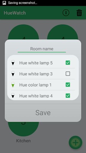 Phillips Hue for Android Wear - screenshot