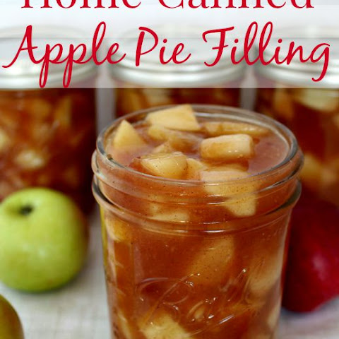 Home Canned Apple Pie Filling