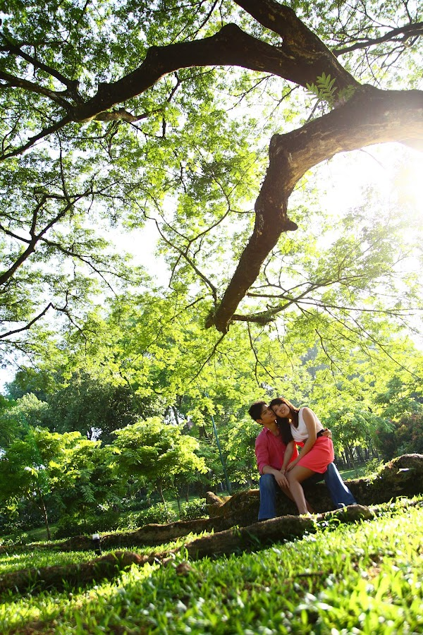 Sweet couple at park by Tan  Kian Yong - People Couples ( park, couple, dating, people, young )