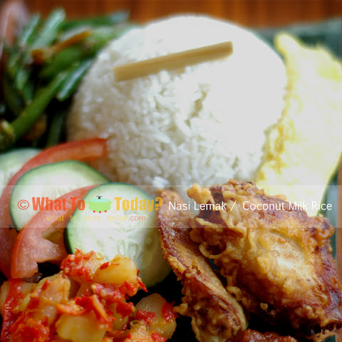 NASI LEMAK/COCONUT MILK RICE
