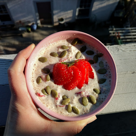 Strawberries & Cream Breakfast Quinoa