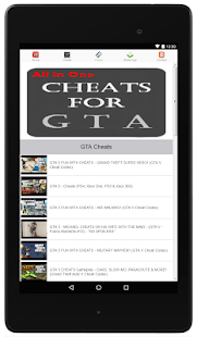 Cheats For GTA - All in One - screenshot