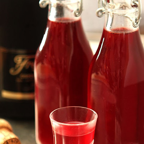 Homemade Cranberry Liqueur