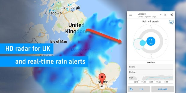 RainToday - HD Radar screenshot for Android