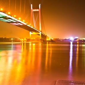 evening by Aritra De - Buildings & Architecture Bridges & Suspended Structures