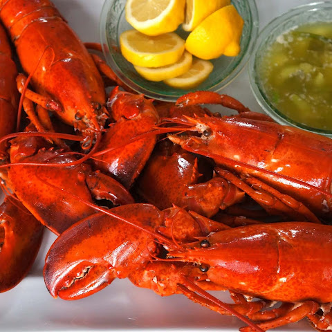 Boiled Lobster with Scallion Pepper Butter