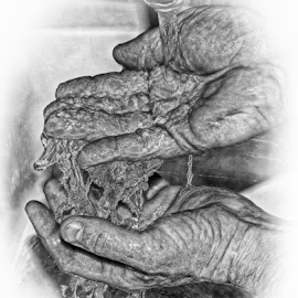 Life giving  by John Cuthbert - Drawing All Drawing ( pencil, water, sketch, nature, hands, art, h2o, wet, drawing )