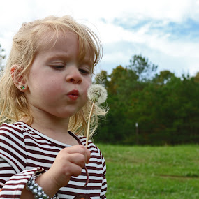 The Dandelion by Daryl Peck - Novices Only Portraits & People ( child, girl, novice, dandelion, autumn, fall, outdoor, children, little )