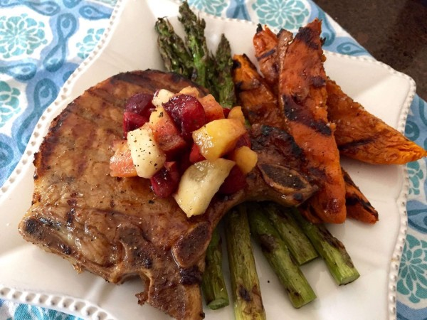Sweet Tea Brined Pork Chops with Maple-Bourbon Glaze Recipe | Yummly