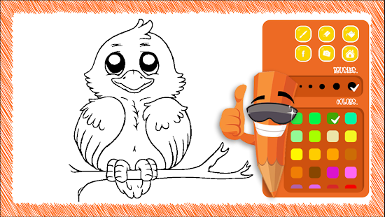 Download Free Coloring Book Bird Paint APK To PC