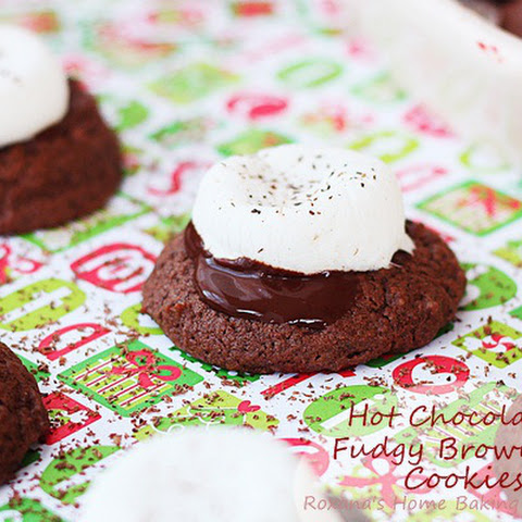 Hot Chocolate Fudgy Brownie Cookies
